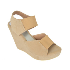 Raindoz Women Wedges Cream