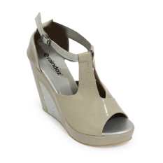 Raindoz Women Wedges Strap - Krem