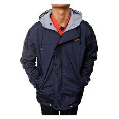 Raja Clothing Jaket Parasut Simpel Logo DarkBlue