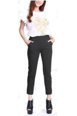 Rasya Celana Panjang Basic Wedges - Black