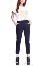 Rasya Celana Panjang Basic Wedges - Navy