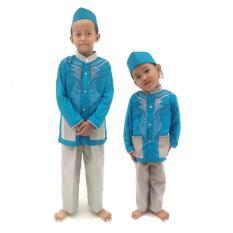 Rasya Setelan Busana Muslim koko anak1-12 tahun - biru