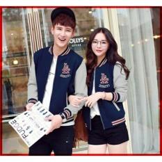 RatuCouple Jaket Pasangan LA / Jacket Couple LA Fans Club / Jaket Sepasang / Jacket Girl & Jaket Pria LC - Navy
