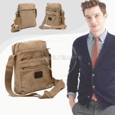 REAL PICTURE 6 Sap Tas Selempang Pria Keren Kanvas/ sling bag / shoulder bag / 160813 - LT Cream