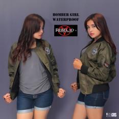 REBEL ID BOMBER JAKET wanita - hijau armi
