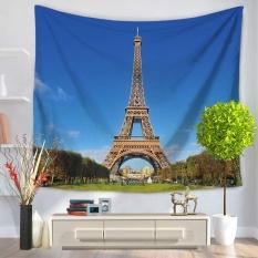 Rectangle Beach Towel Eiffel Tower Pattern Unisex Beachwear Sunbath Shawl - intl