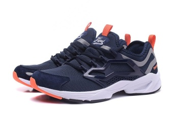 Reebok FURY ADAPT Running Shoes Light Comfortable Running Shoes Men's Cashion Shoes(blue orange) - intl