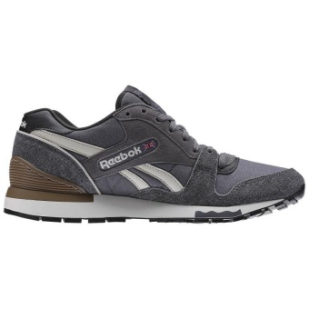 Reebok Mens Casual Shoes GL6000 Sports Shoes Running Shoes Reebok Classical Walking Shoes (grey with Jean Cloth ) - intl