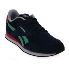 Reebok Women's Royal CL Jog 2RS Sneakers - Collegiate Navy-Exotic Teal-Fearless Pink-Steel-White