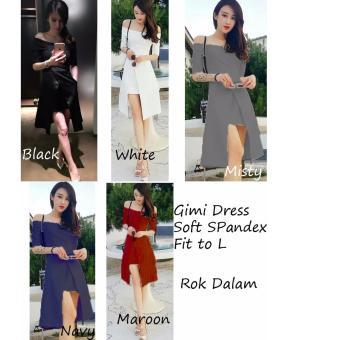 REYN SHOP Gimi Dress Maroon | Dress Wanita | Baju Wanita | Dress Maroon
