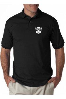 Rick's Clothing -Polo Shirt Transformers Megatron - Hitam