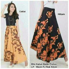 Rok lilit maxi payung batik wanita long skirt Yuna - hitam