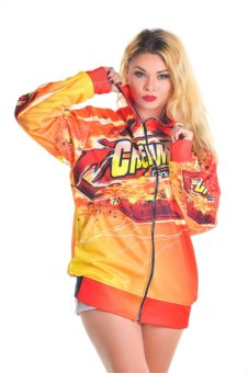 Sakha29 Design Jaket Balap Creampie Racing Edition - Orange
