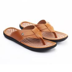 Salvo Sandal pria warna tan