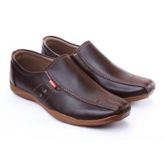 Salvo sepatu formal pria kulit sintetis- Coklat