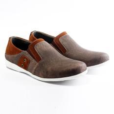 Salvo Sepatu pria denim coklat