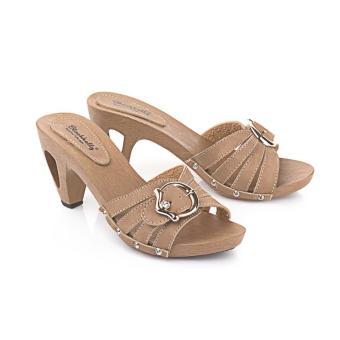 Sandal High Heels Wanita | Sendal Cewek Warna Coklat - LPI 047