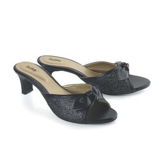 Sandal High Heels Wanita | Sendal Cewek Warna Hitam - LDO 609