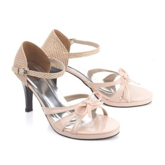 Sandal High Heels Wanita | Sendal Cewek Warna Krem - LER 741