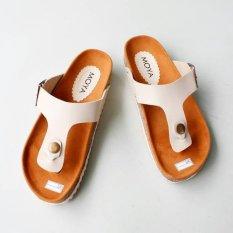 Sandal Wanita Footbed ST04 - Cream