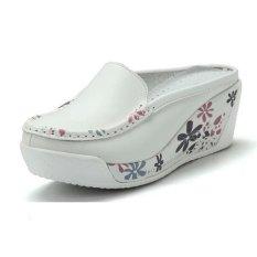 Sandal Wanita ZYSK Flower Print Baji (Putih) Z061904
