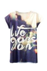 Sanwood Women's Short Sleeve Letter Printed T Shirt Tops