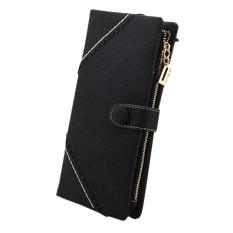 Sanwood Women Leather Wallet Bifold Button Clutch Purse Lady Long Handbag Wallets