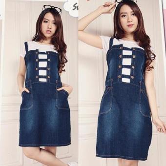 SB Collection Adrina Jeans Overall - Biru Tua