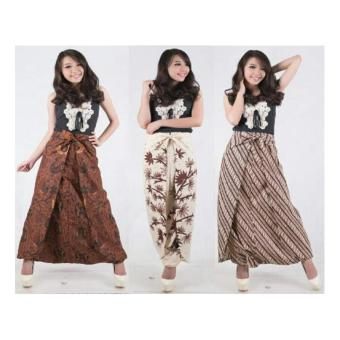 SB Collection Celana Rok Artika Long Skirt Batik-Putih Gading B