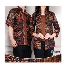 SB Collection Couple Batik Atasan Sisilia-Coklat
