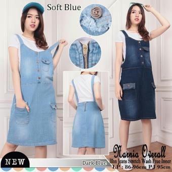 SB Collection Overall Jeans Narnia Dress-Biru Tua