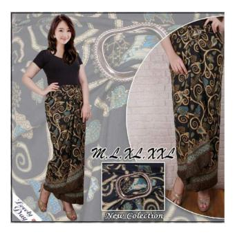 SB Collection Rok Lilit Batik Habibah Long Skirt-Hitam