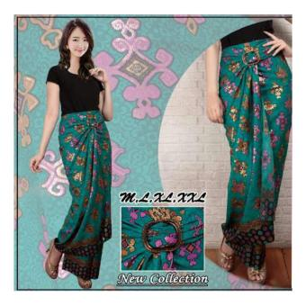 SB Collection Rok Lilit Batik Tesa Long Skirt-Multicolor