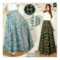 SB Collection Rok lilit Maxi Duera Batik Long Skirt-Abu