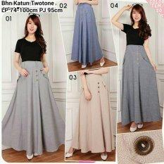 ... Sb Collection Rok Maxi Ayunida Jeans Long Skirt 02 Abu Tua
