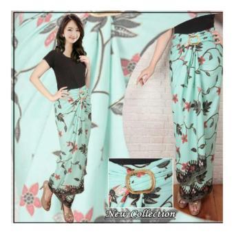 Sb Collection Rok Maxi Lilit Batik Ginnia Long Skirt-Hijau