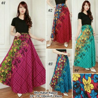 SB Collection Rok Maxi Vanya Long Skirt-Biru