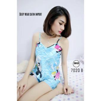 SB Collection Stelan Baju Tidur Cuty Blue Piyama Atasan dan Celana-Biru