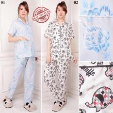 ... Pink Harga Daftar Source SB Collection Stelan Baju Tidur Piyama Eleflow 02 Hitam