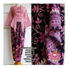 SB Collection Stelan Kebaya Ayuuan Batik Blouse Dan Rok Lilit-Pink