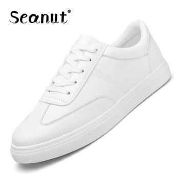 Seanut Fashion Sneakers Women Casual Sports Lace Up Shoes(White) -intl