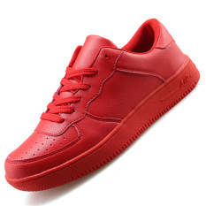 Seanut Men's Fashion Casual Lovers Breathable Skater Shoes (Red)
