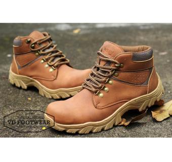Sepatu Boots Pria [ Ocean Drackor ] Sepatu Boot Safety Tracking Adventure Casual Kerja Lapangan Outdoor