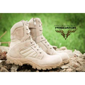 Sepatu Boots Pria Predator Delta California Suede Mercy Tracking Hiking And Touring - Crem