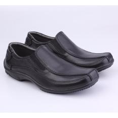 Sepatu Kerja Formal Pantofel Pria Catenzo MP 124 Hitam Kulit