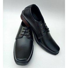 Sepatu Pantofel Pria Bertali Warna Hitam - Sepatu Formal Pria