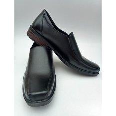 Sepatu Pantofel Pria Polos Warna Hitam Hak 3cm