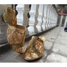 Sepatu Sandal Heel Pesta Wanita / Sendal High Heels Cewek Silver G