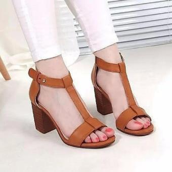 Sepatu Sandal High Heels Wanita MA02 US19 - Tan