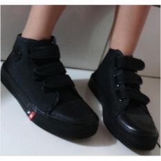 Sepatu Sekolah Anak Warna Hitam Import - SPAL-109